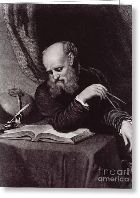 Pendulum Greeting Cards - Galileo Galilei, Italian Polymath Greeting Card by Science Source