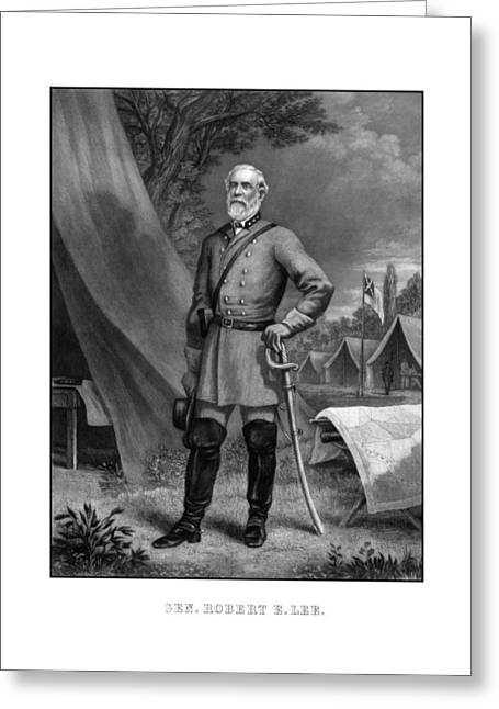 American Army Drawings Greeting Cards - General Robert E Lee Greeting Card by War Is Hell Store