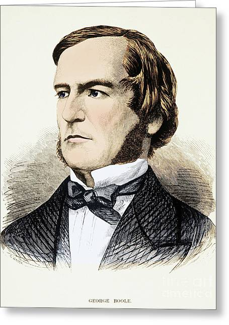 Taught Greeting Cards - George Boole, English Mathematician Greeting Card by Photo Researchers