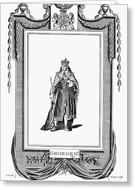 Scepter Greeting Cards - George Ii (1683-1760) Greeting Card by Granger