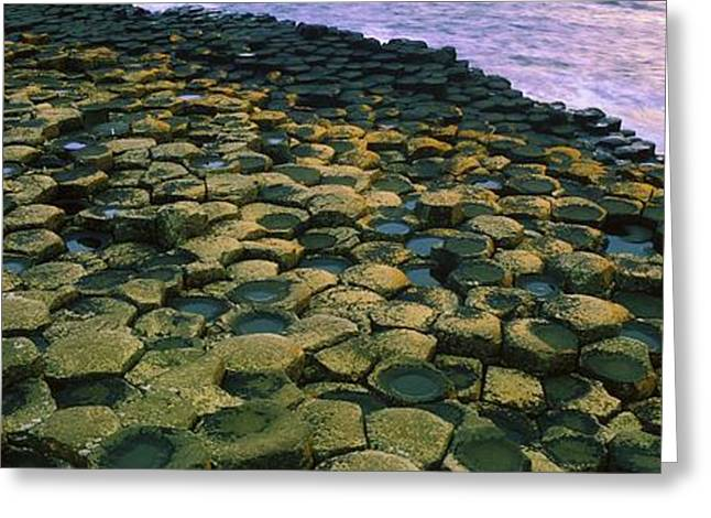 Ocean Panorama Greeting Cards - Giants Causeway, Co Antrim, Ireland Greeting Card by The Irish Image Collection