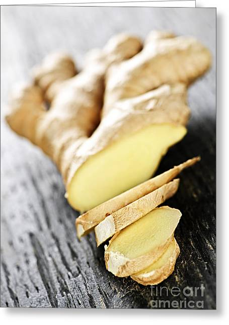 Medicinal Greeting Cards - Ginger root Greeting Card by Elena Elisseeva
