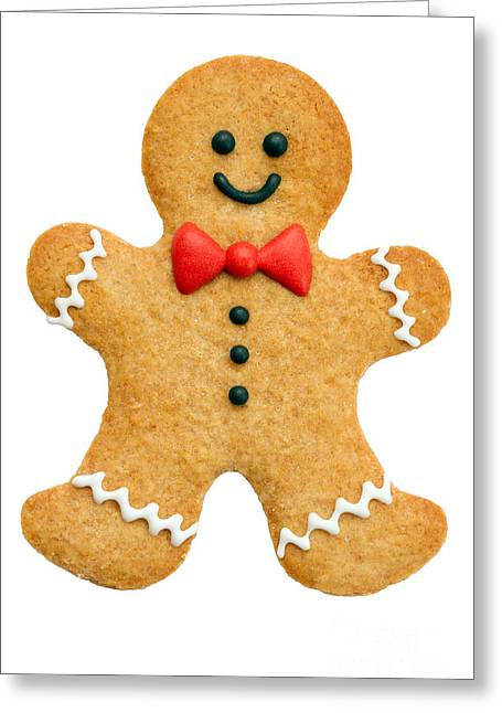 Bowtie Greeting Cards - Gingerbread man Greeting Card by Ruth Black