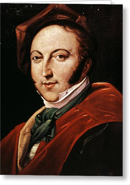 Sideburns Greeting Cards - Gioacchino Rossini Greeting Card by Granger