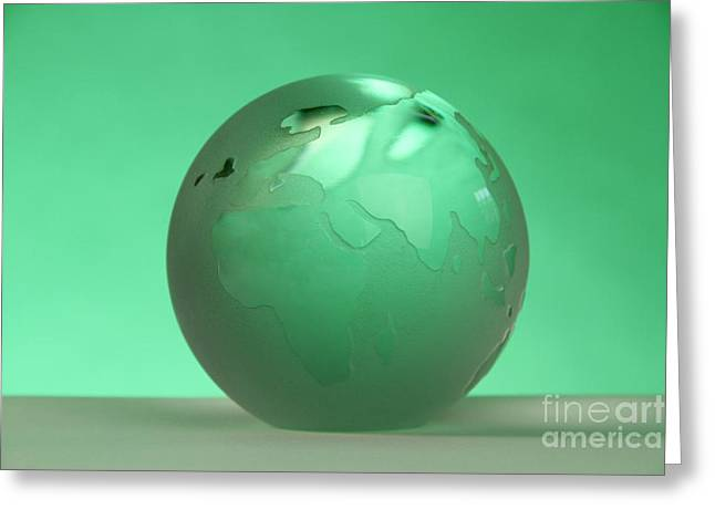 Paper Weight Greeting Cards - Glass Globe Greeting Card by Photo Researchers, Inc.
