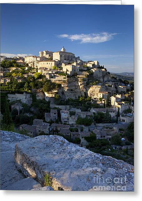 Provence Village Greeting Cards - Gordes Greeting Card by Brian Jannsen