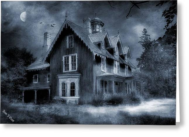 Creepy Digital Art Greeting Cards - Gothic Revival Greeting Card by Fran J Scott