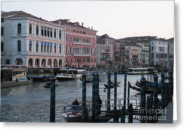 City Canal Greeting Cards - Grand canal. Venice Greeting Card by Bernard Jaubert