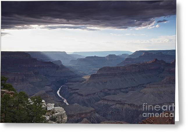 Clouds Over Canyon Greeting Cards - Grand Canyon As Seen From Mohave Point Greeting Card by Terry Moore