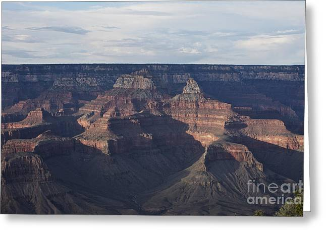 Layered Rock Greeting Cards - Grand Canyon As Seen From Yavapai Point Greeting Card by Terry Moore