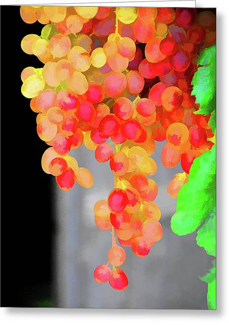 Greece Vineyards Greeting Cards - Grapes Greeting Card by Manolis Tsantakis