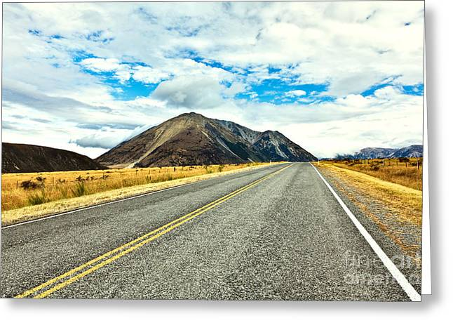 Great Mysteries Photographs Greeting Cards - Great Alpine highway Greeting Card by MotHaiBaPhoto Prints
