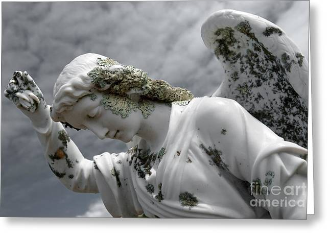 Grieving Angel Greeting Card by Yurix Sardinelly
