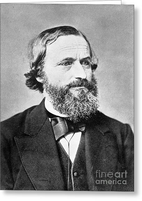 Co-founder Greeting Cards - Gustav Kirchhoff, German Physicist Greeting Card by Science Source