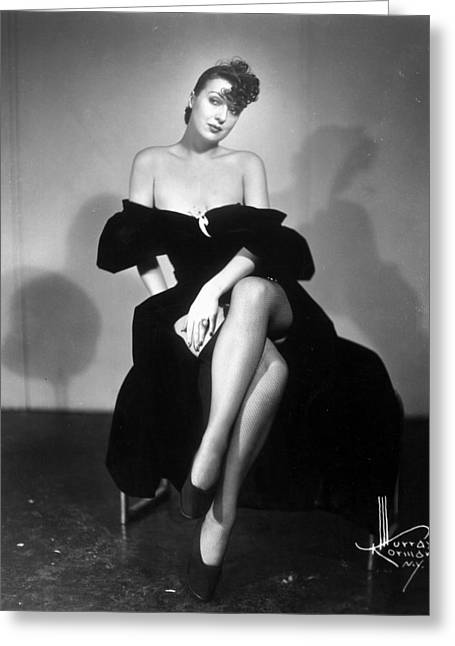 1950s Portraits Photographs Greeting Cards - Gypsy Rose Lee (1913-1970) Greeting Card by Granger