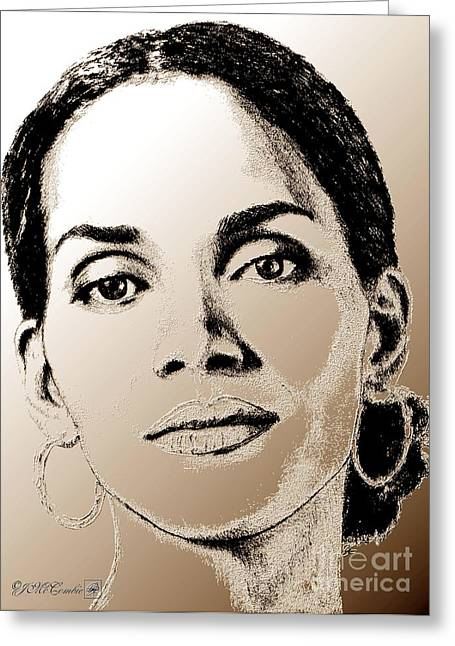 Halle Berry Greeting Cards - Halle Berry in 2008 Greeting Card by J McCombie