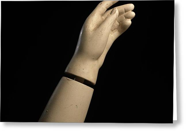 Arms Out Greeting Cards - Hand of dummy Greeting Card by Bernard Jaubert