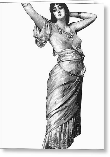 Harem Woman, 19th Century Greeting Card by Granger
