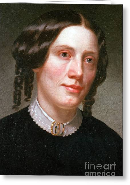 Uncle Tom Greeting Cards - Harriet Beecher Stowe, American Greeting Card by Photo Researchers