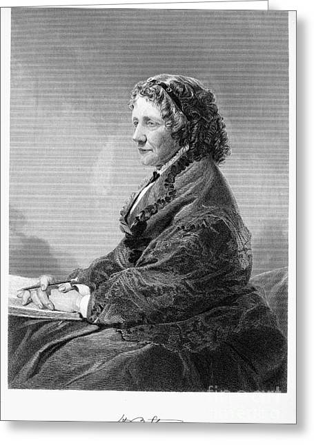 Abolition Photographs Greeting Cards - Harriet Beecher Stowe Greeting Card by Granger