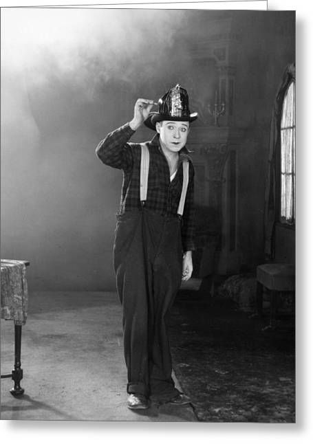 Suspenders Greeting Cards - Harry Philmore Langdon Greeting Card by Granger