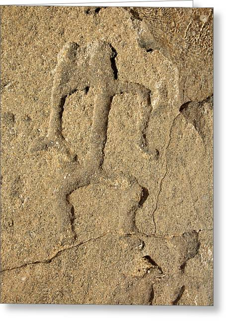 Vince Greeting Cards - Hawaiian Petroglyph Greeting Card by Vince Cavataio - Printscapes