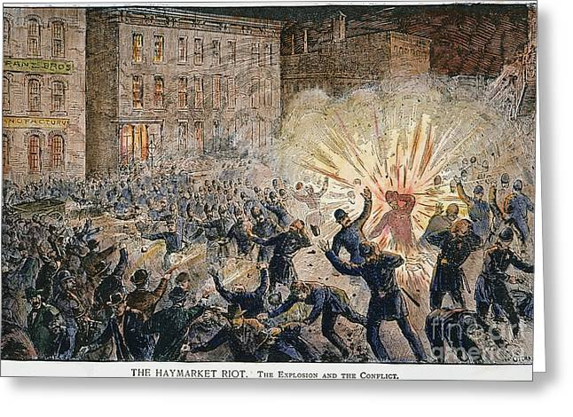 Union Square Greeting Cards - Haymarket Riot, 1886 Greeting Card by Granger