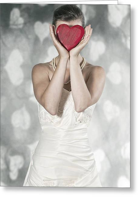 Elegant Bride Greeting Cards - Heart Greeting Card by Joana Kruse
