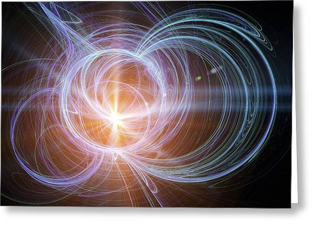 Structure Of Matter Greeting Cards - Higgs Boson, Conceptual Artwork Greeting Card by Pasieka