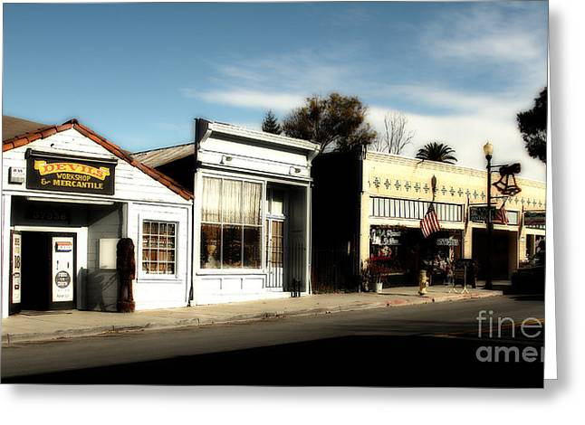 Devils Workshop And Mercantile Greeting Cards - Historic Niles District in California Near Fremont . Main Street . Niles Boulevard . 7D10676 Greeting Card by Wingsdomain Art and Photography