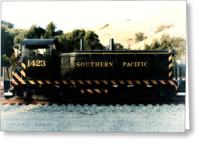 Caboose Greeting Cards - Historic Niles Trains in California . Old Southern Pacific Locomotive . 7D10867 Greeting Card by Wingsdomain Art and Photography