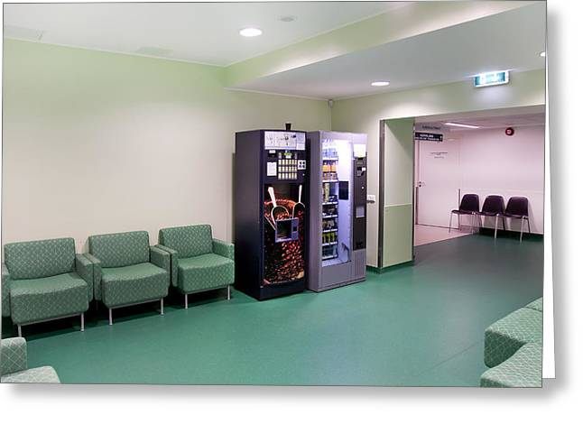 Copy Machine Greeting Cards - Hospital Corridors. Doors Signs Greeting Card by Jaak Nilson