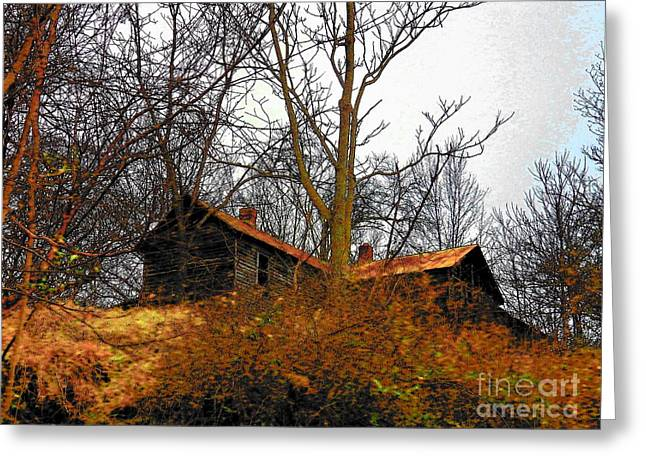 House on the Hill Greeting Card by Joyce Kimble Smith