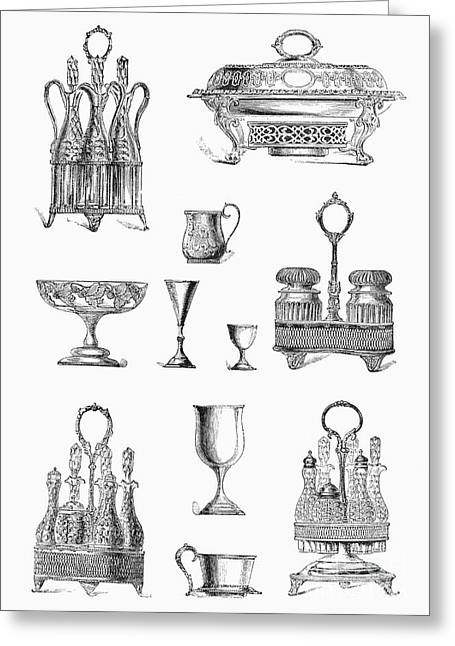 Goblet Greeting Cards - HOUSEWARES, 19th CENTURY Greeting Card by Granger