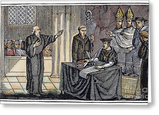 Hugh Latimer (1485-1555) Greeting Card by Granger