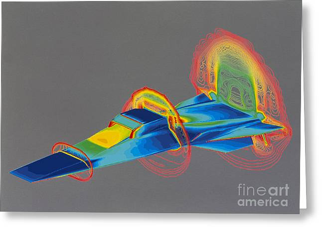 Hyperx Hypersonic Aircraft Greeting Card by Science Source