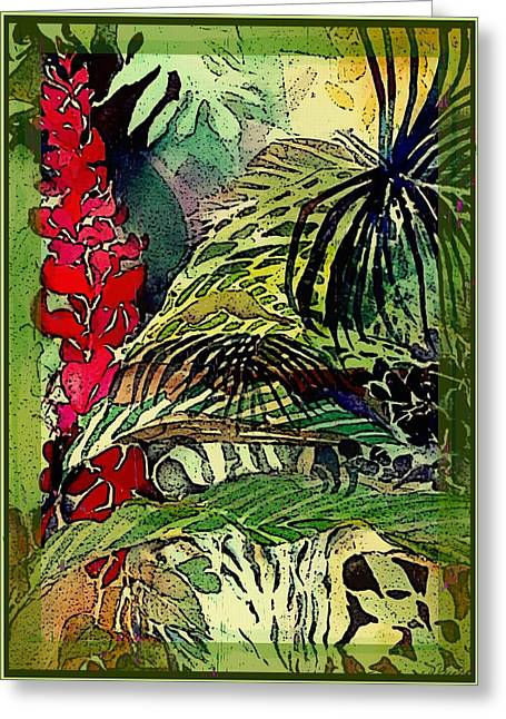 Red Claws Greeting Cards - In the Jungle  Greeting Card by Mindy Newman