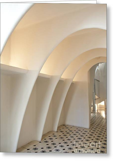 Olia Saunders Greeting Cards - Interior in Casa Batllo Barcelona  Greeting Card by Design Remix