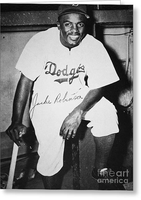 Autograph Greeting Cards - Jackie Robinson (1919-1972) Greeting Card by Granger