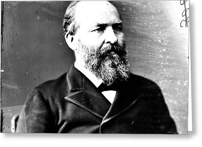 James A. Garfield, 20th American Greeting Card by Photo Researchers