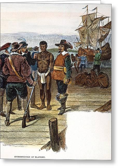 Slave Ship Greeting Cards - Jamestown: Slavery, 1619 Greeting Card by Granger