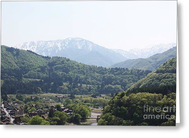 Japan Village Greeting Cards - Japanese village Greeting Card by Evgeny Pisarev