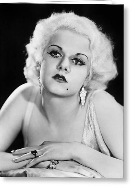 Eyebrow Greeting Cards - Jean Harlow (1911-1937) Greeting Card by Granger