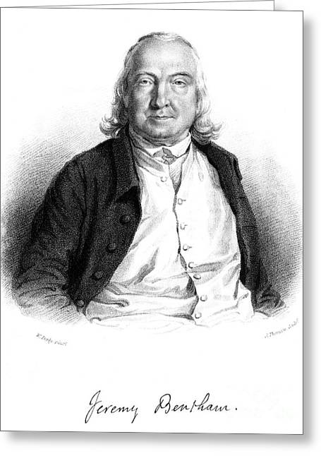 Jeremy Bentham (1748-1832) Greeting Card by Granger
