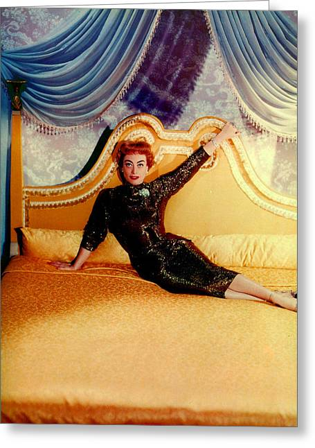 Recently Sold -  - 1955 Movies Greeting Cards - Joan Crawford (1905-1977) Greeting Card by Granger