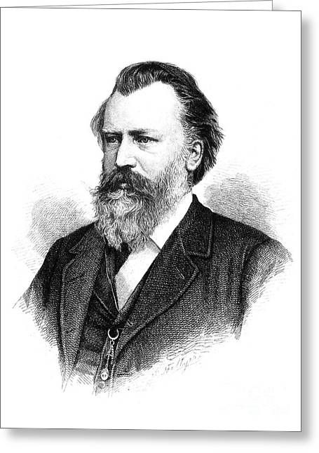 Brahms Greeting Cards - Johannes Brahms Greeting Card by Granger