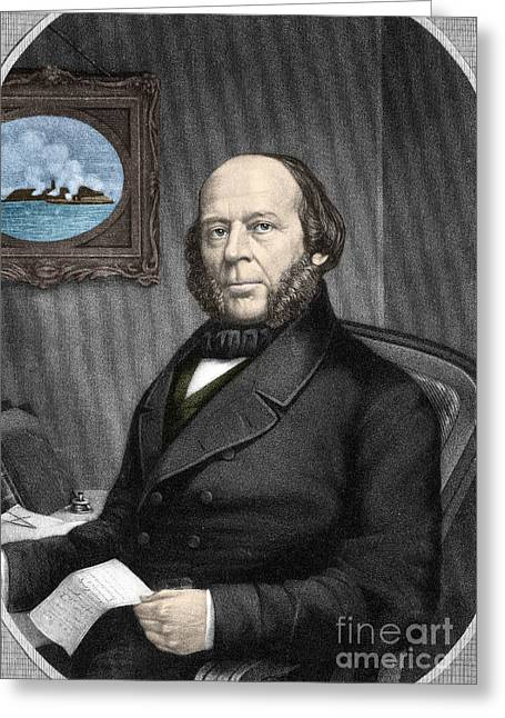 Warship Drawings Greeting Cards - John Ericsson, Swedish-american Inventor Greeting Card by Photo Researchers