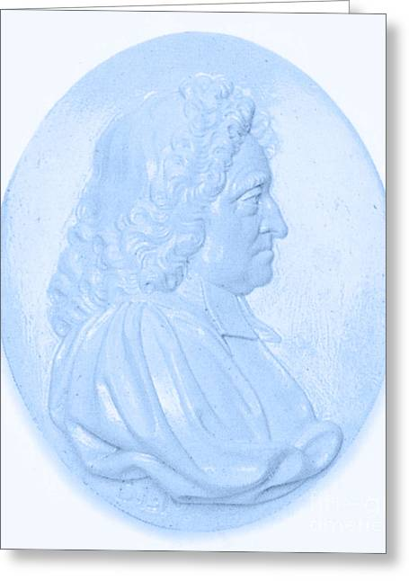 Coelestis Greeting Cards - John Flamsteed, English Astronomer Greeting Card by Science Source