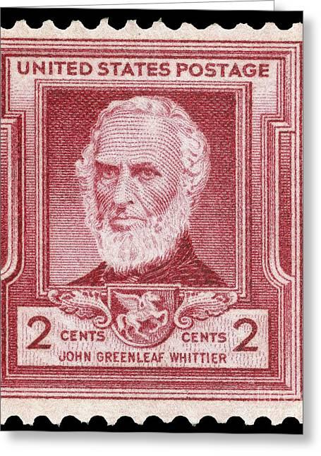 John Greenleaf Greeting Cards - John Greenleaf Whittier Greeting Card by Granger