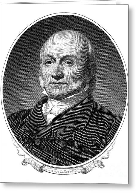 Sideburns Greeting Cards - John Quincy Adams Greeting Card by Granger